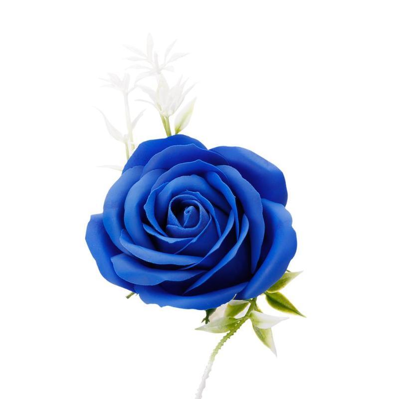 Креативная роза цветок мыло для путешествий мыльные хлопья лепесток тела Парфюмированное Мыло День Святого Валентина украшение для свадьбы подарок Лучшие - Цвет: Blue