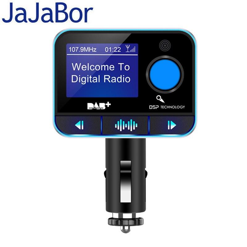 JaJaBor DAB transmetteur FM Kit voiture Bluetooth mains libres 3.5 MM AUX Audio lecteur MP3 DAB Audio numérique émission autoradio récepteur