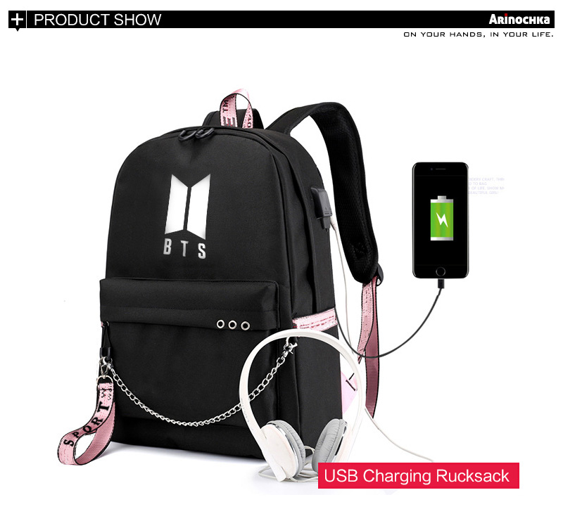 Kpop Bts Bangtan Kids Backpack Yourself Lovely Travel Bag Graffiti Backpack Luggage & Bags