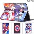 Мода Человек-Паук Капитан Америка Супергерои искусственная кожа случая стойки smart cover для Samsung Galaxy Tab E 9.6 T560 SM-T560 T561