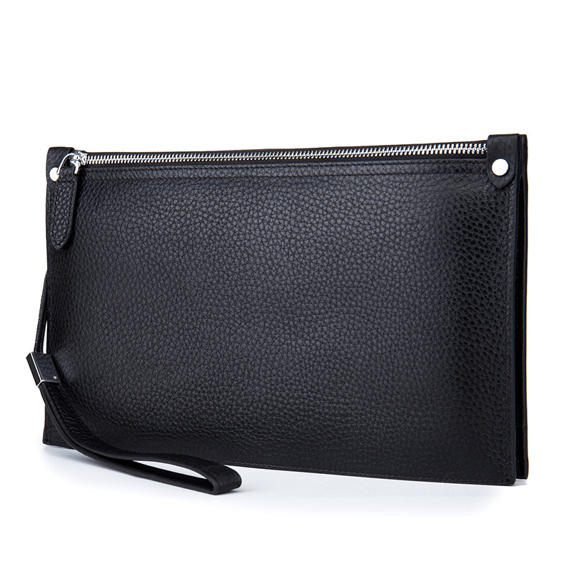 2017 New Arrival Fashion font b Men b font Bags Genuine Leather Long font b Men