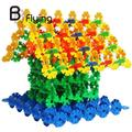 100 pieces Kids Building Blocks Block Toy Snowflake Creative Educational Children Xmas Multicolor Classic