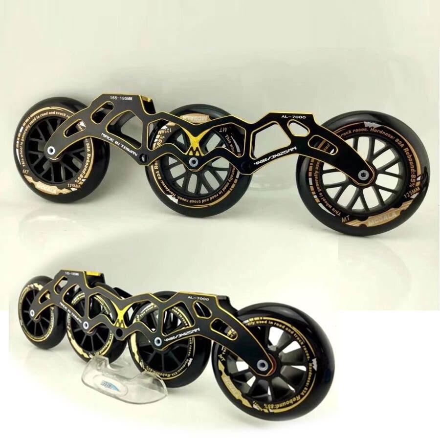 Japy Patin À Roues Alignées Roller Pour 4*110mm ou 3*125mm Roues Réglable 7000 En Aluminium patinage Base Sélective Patins à roulettes