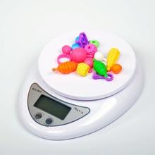 Портативные электронные весы светодиодный Электронные весы 5 кг/1 кг почтовый пищевой баланс измерительный Вес Кухонные светодиодный электронные весы