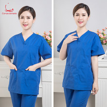 Scalpel short sleeve brush hand clothing isolation Korean version of stomatologist skin management work clothes