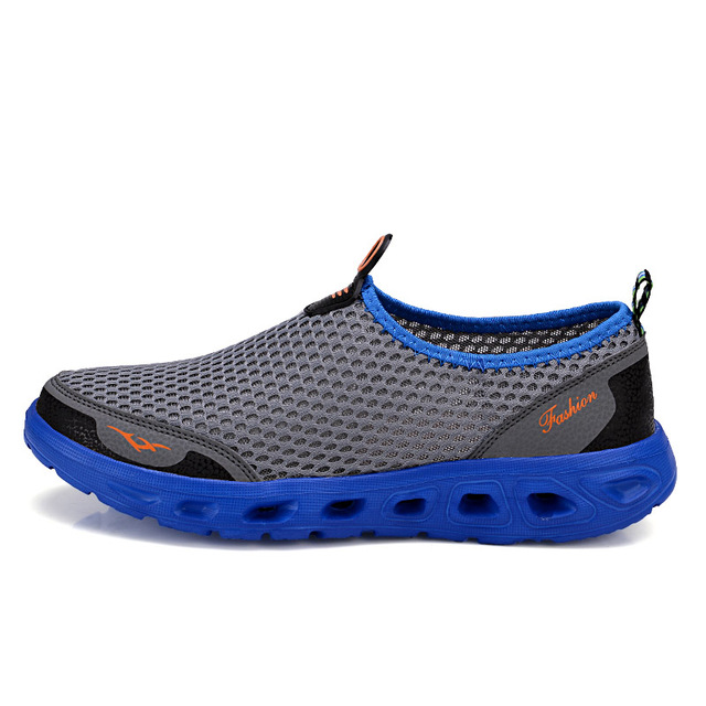 Men Fashion Brand Mesh Shoes High Quality Breathable Slip on Summer Casual Shoes