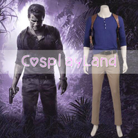 Uncharted 4 A Thief's End Game Cosplay Nathan Drake Costume for Adult Men's Suit Pants Uniform Carnival Custom Made Costumes