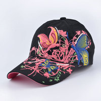 butterfly Embroidery Baseball Caps for women Sequins Elegant fashion cap Girl snapback hats gorras beisbol casquette