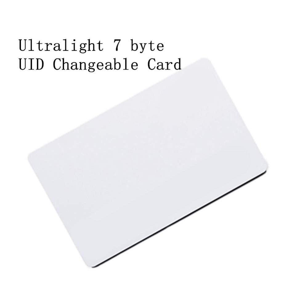 7 Byte Ultralight EV1 UID Changeable 0 Block Writable 13.56Mhz RFID Rewritable Proximity Smart Card For Copy Clone Duplicate