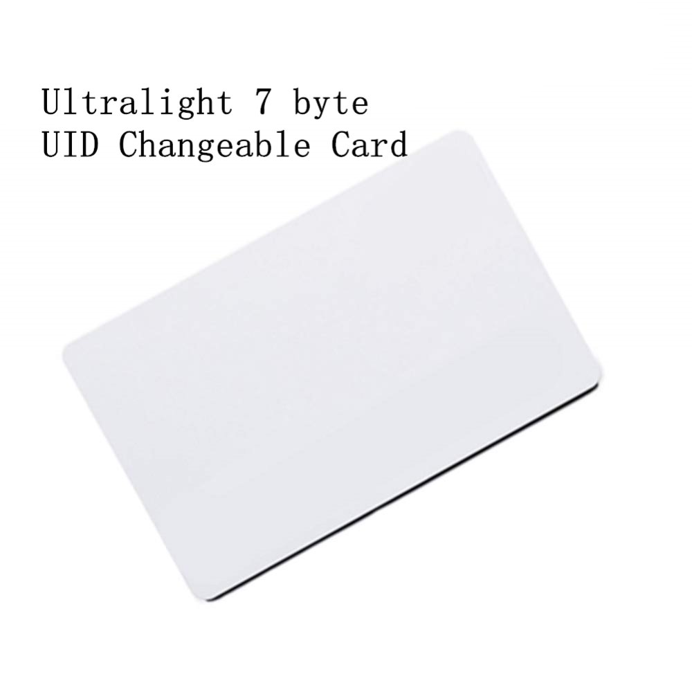 7 Byte Ultralight EV1 UID Changeable 0 Block Writable 13.56Mhz RFID Rewritable Proximity Smart Card For Copy Clone Duplicate