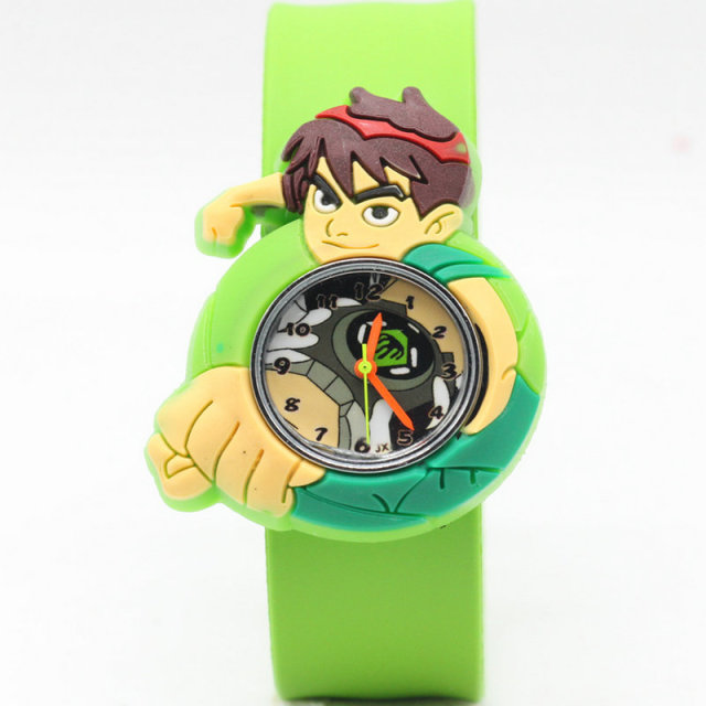 2018 new 1pcs/lot kids slap watches children cartoon ben 10 slap watches