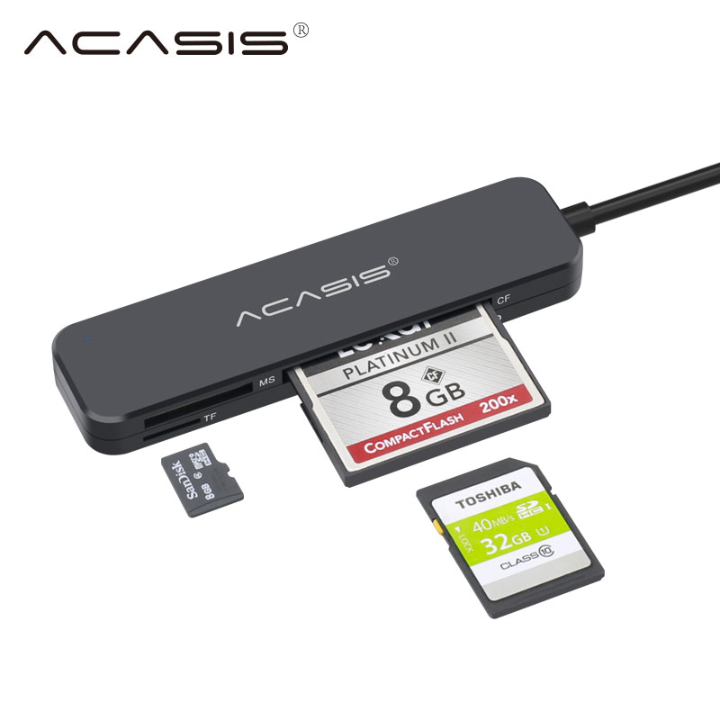 Acasis USB 3.0 Card Reader SD Micro SD TF CF MS Compact Flash Card Adapter For Laptop OTG Type C To Multi Card Reader USB 3.0