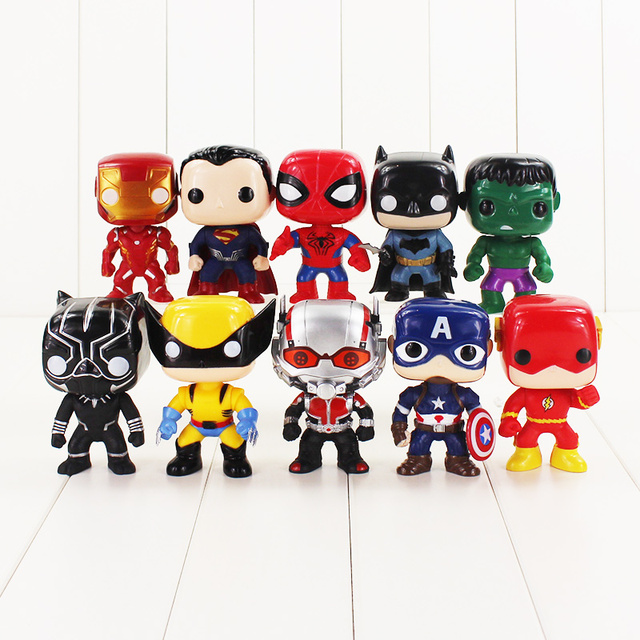10 יח'\חבילה נוקמי מלחמת אינסוף סופר גיבורי איש ברזל סופרמן באטמן ספיידרמן קפטן אמריקה לוגן שחור פנתר פלאש צעצועים