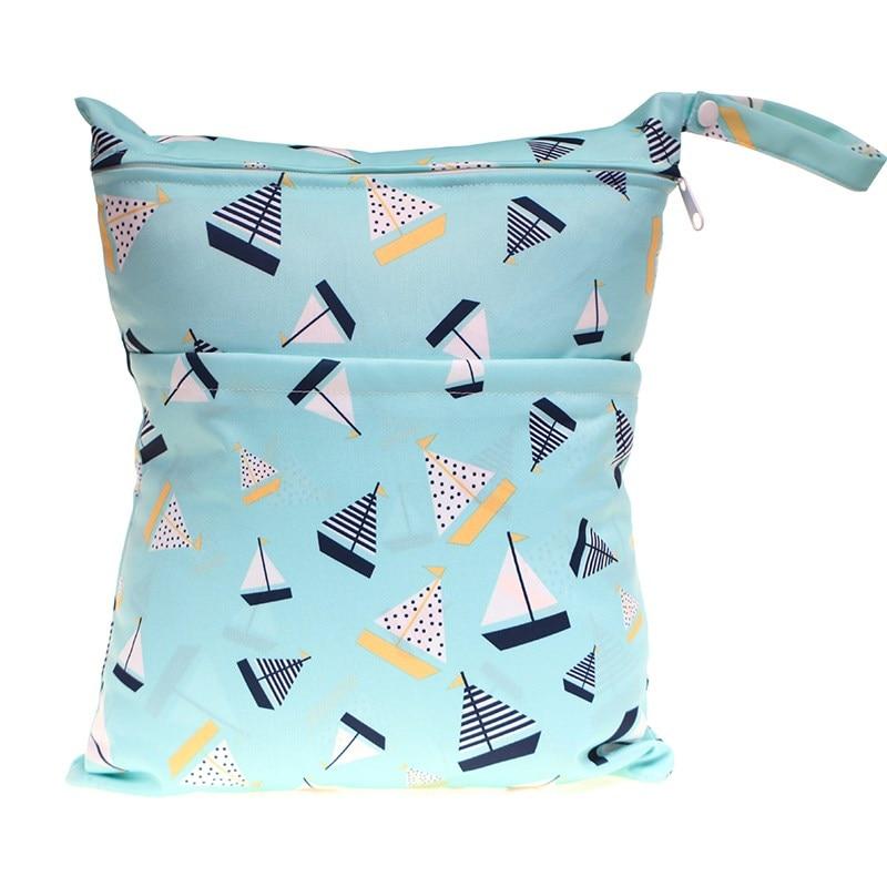 [Sigzagor] 1 Влажная сухая сумка с двумя молниями для детских подгузников, водонепроницаемая сумка для подгузников, розничная и, 36 см x 29 см, на выбор 1000 - Цвет: WH42