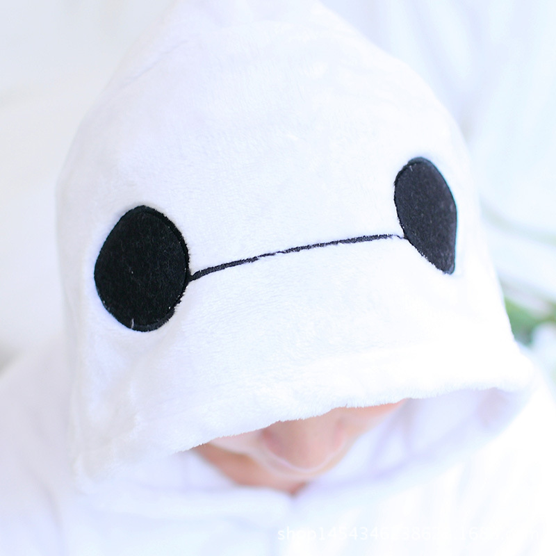 Cute White Robot Cartoon Adult Homewear Animal Halloween Carnival Costume Pajamas Sleepwear Onesies Pajama For Women Men Couples