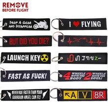 سلسلة مفاتيح إطلاق نووي موضة جديدة للدراجات النارية والسيارات الهدايا علامة التطريز مفتاح Fobs حامل OEM سلسلة المفاتيح كيرينغ بيجو