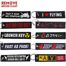 New Fashion Nuclear Launch Key Chain for Motorcycles and Cars Gifts Tag Embroidery Key Fobs Holder OEM Keychain Keyring Bijoux