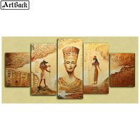 5d diamond painting Egyptian landscape portrait icon full square 3d diamond mosaic kit diamond embroidery crafts 1 set 5 pieces
