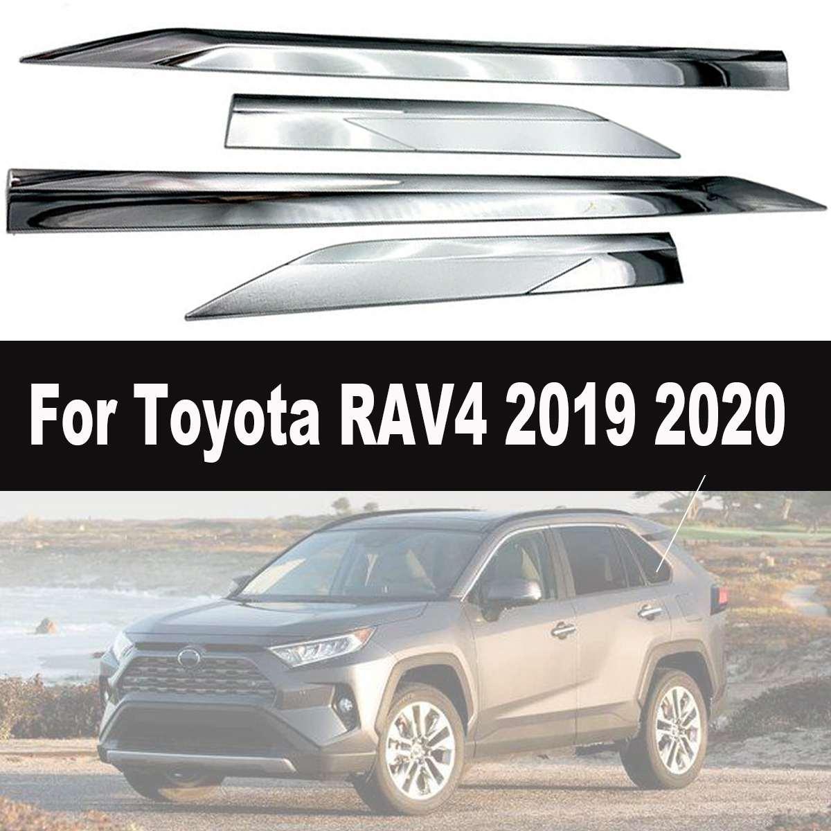Garniture de panneau de moulage de corps de porte latérale ABS Chrome couverture pour Toyota pour RAV4 2019 2020 bandes latérales garniture de voiture Chrome style
