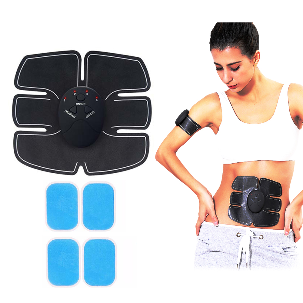 Aikoyi ABS Stimulator Workout Equipment Muscle Stimulator Portable Abdominal Muscle Toner 6 Modes /& 9 Levels Fat Burner for Abdomen//Arm//Leg with 10 PCS Gel Pad Fitness Equipment for Men//Women