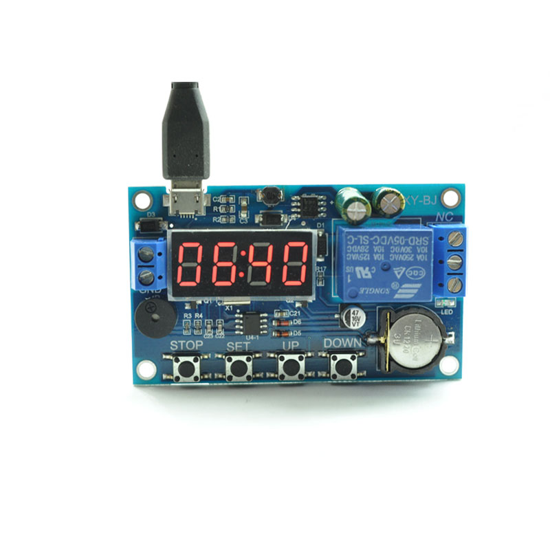 Time switch module 5V12V 220V real-time timing relay with time clock electronic time switch ds1302 rtc real time clock module i2c signal with calender