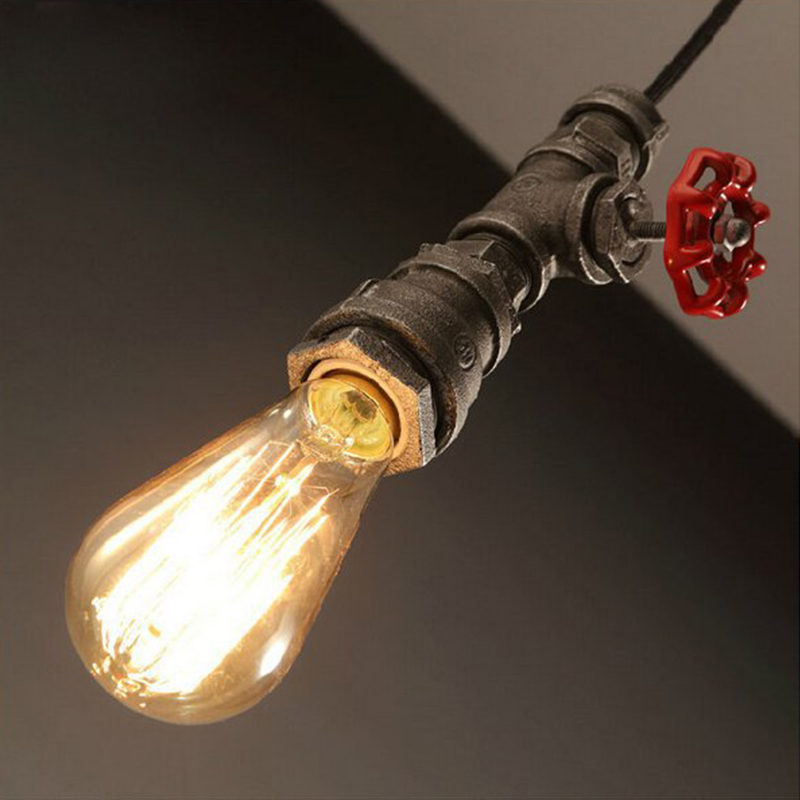 Retro restaurant bar hanging lamp act the role roofing loft personality decoration rural industrial pipe pendant light