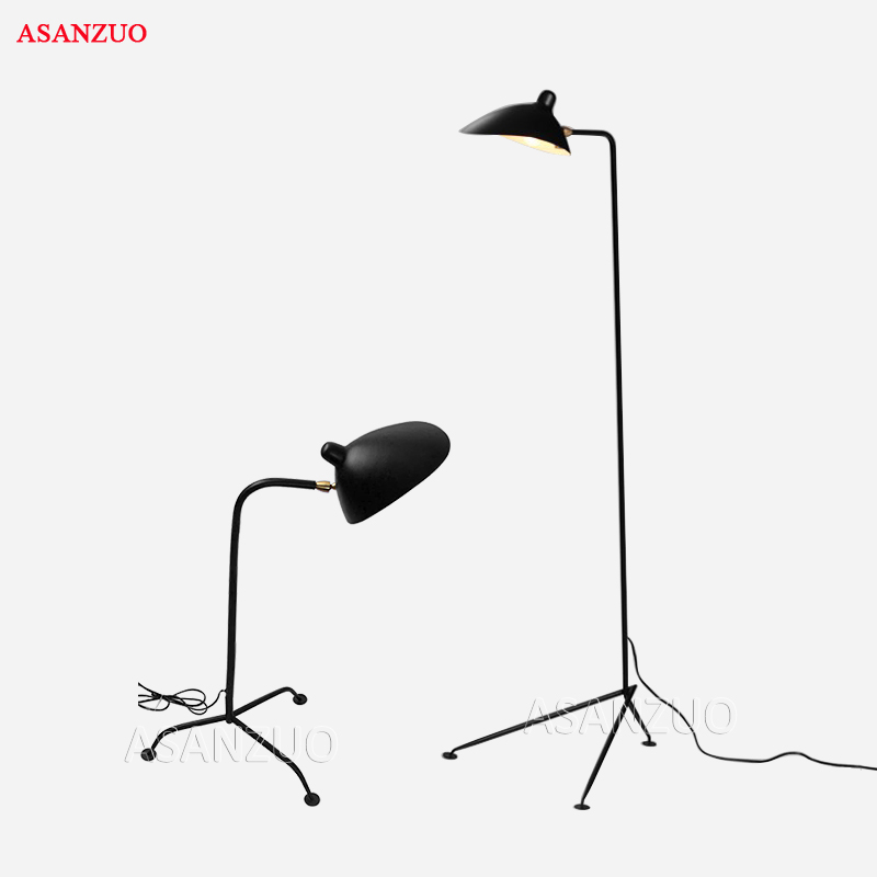 Nordic Fer Lampadaire Lampe De Sol À la Mode E27 salon personnalité artistique créative Bec de Canard abat-jour spide Lampadaire