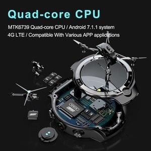 Image 3 - LOKMAT 4G 5mp + 5mp كاميرا مزدوجة ساعة ذكية الرجال الروبوت 7.1 MTK6739 1GB + 16GB 400*400 AMOLED شاشة GPS WIFI ساعة ذكية لنظام تشغيل الأندرويد