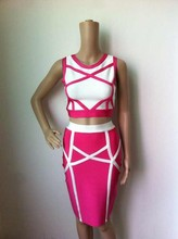 2 Piece Set Bandage Dress