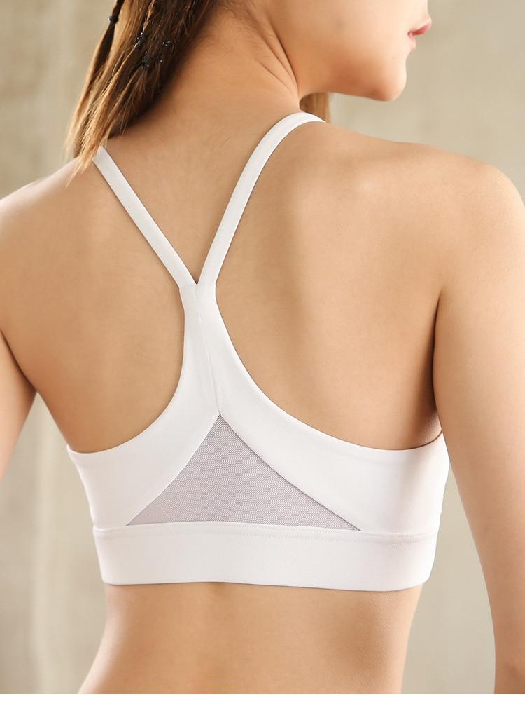 Zhangyunuo Sports Bra Padded Running Gym Yoga Bra Tops Mesh Triangle Women Brassiere Tops Fitness Workout Bra