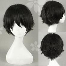 Haikyuu!! Keiji Akaashi krótki czarny włosy Anime pamiętnik przyszłości Yukiteru Amano żaroodporne przebranie na karnawał peruka + darmowa peruka Cap