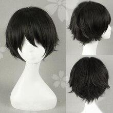 Haikyuu!! Keiji akaashi 짧은 검은 머리 애니메이션 미래 일기 yukiteru amano 내열성 코스프레 의상 가발 + 무료 가발 모자
