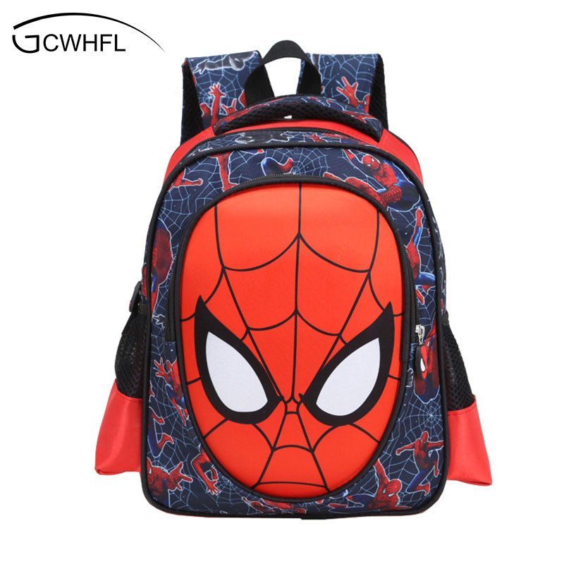 Hot Cartoon 3D Spiderman Backpacks For Kids Children School Bags Primary 1-2 Backpacks Boys School Bags Satchel Mochila Infantil