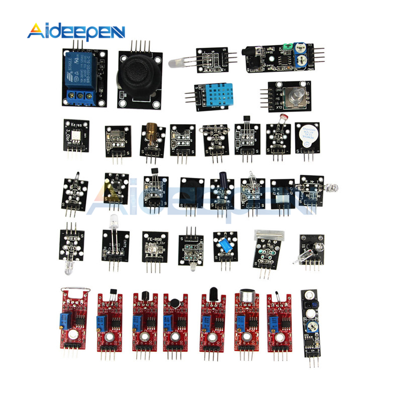 1 Set 37 In 1 Sensor Kits Module 37 Sensor DIY Kits Board For Arduino MCU UNO R3 MEGA2560 NANO