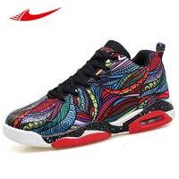 Colorful Painting Men Basketball Shoes Air Cushioning Lovers Sneakers Anti Slippery Training Boots Jordan Retro Shoes