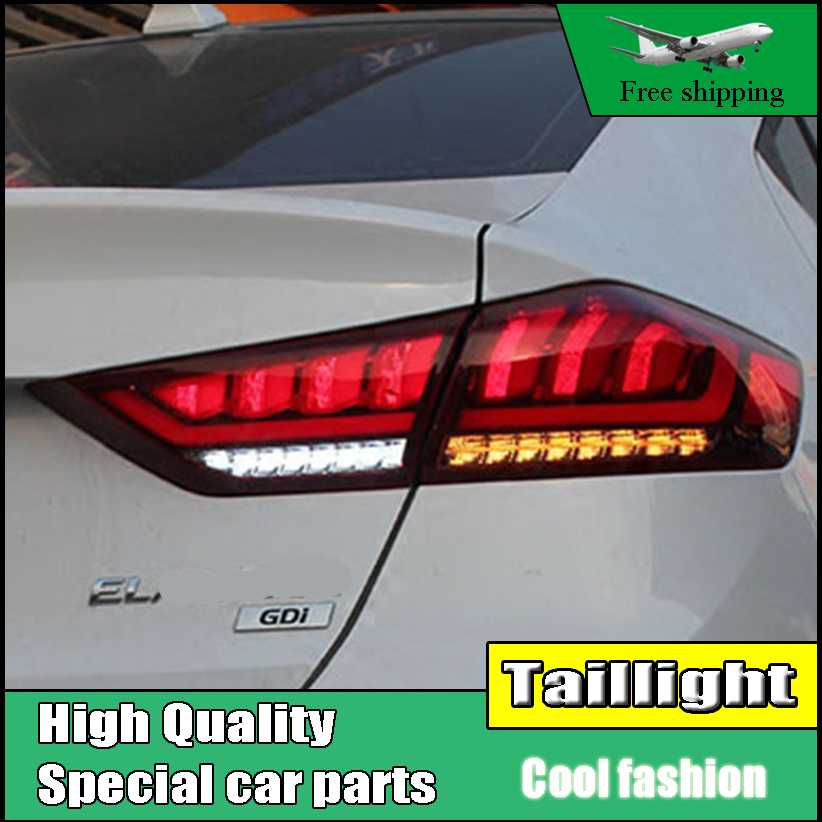 Car Styling Taillight Case For Hyundai Elantra 2017 2018 Taillights LED Tail Lamp Rear Lamp Running Turn Signal light [ free shipping ] brand new led rear light led back light benz style tail lamp for hyundai elantra 2012