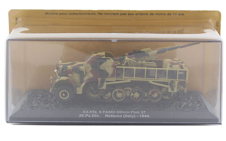 IXO 1/72 the German army Sd.Kfz.9 FAMO 88mm Flak 37 model Alloy collection model Holiday gift 1 30 wwii german mechanized forces captured the urban combat scenarios alloy model suits the scene fm