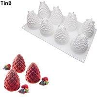 3D Orzeszkami Pinii Czekoladki Ciasto Formy Silikonowe Formy Ciasto Mus Dla Lody Art Pan Pieczenia Deser Ciasto Dekorowanie Narzędzia