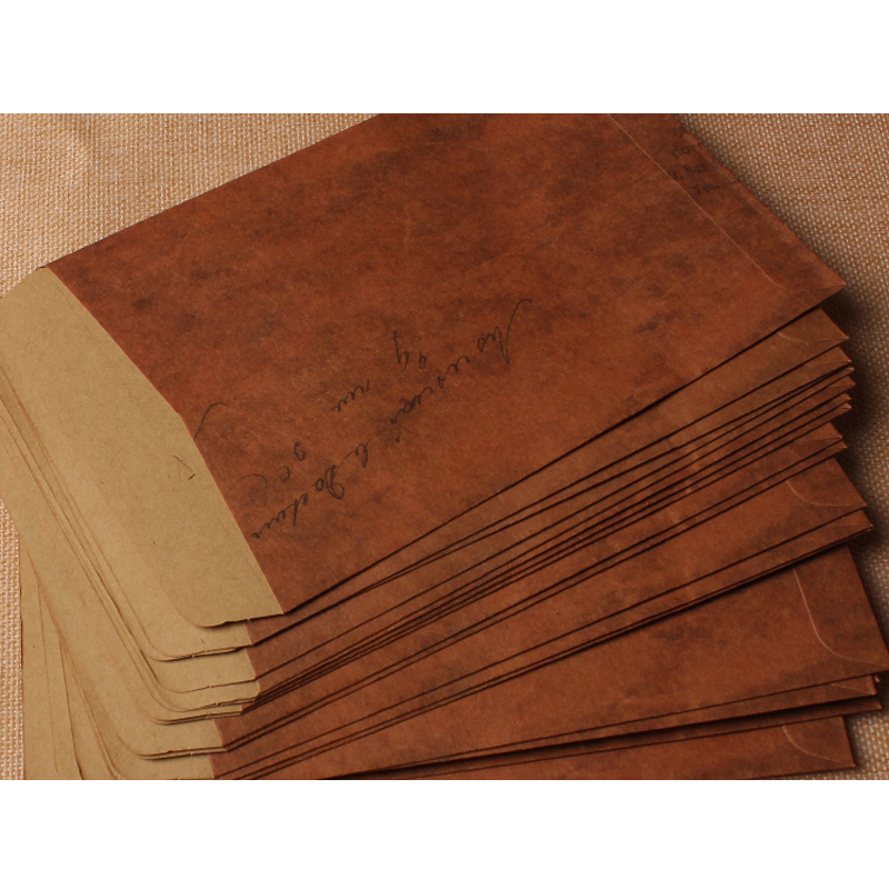 10 Pcslot 1611cm Vintage Fire Paint Kraft Paper Envelopes Storage