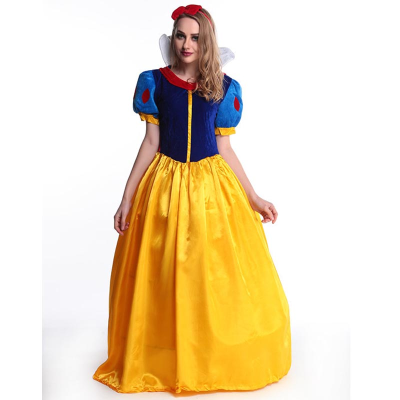 Snow White Princess Dress Women fantasia Princess Snow White Cosplay Carnival Disfraces Party Women Adult Snow White Costumes