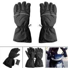 1PC Motorcycle Outdoor Hunting Electric Warm Waterproof Heated Gloves Battery Powered For Motorcycle Hunting Winter Warmer 3000mah rechargeable battery pu leather windproof winter warm ski outdoor work motorcycle cycling electric heated hands gloves