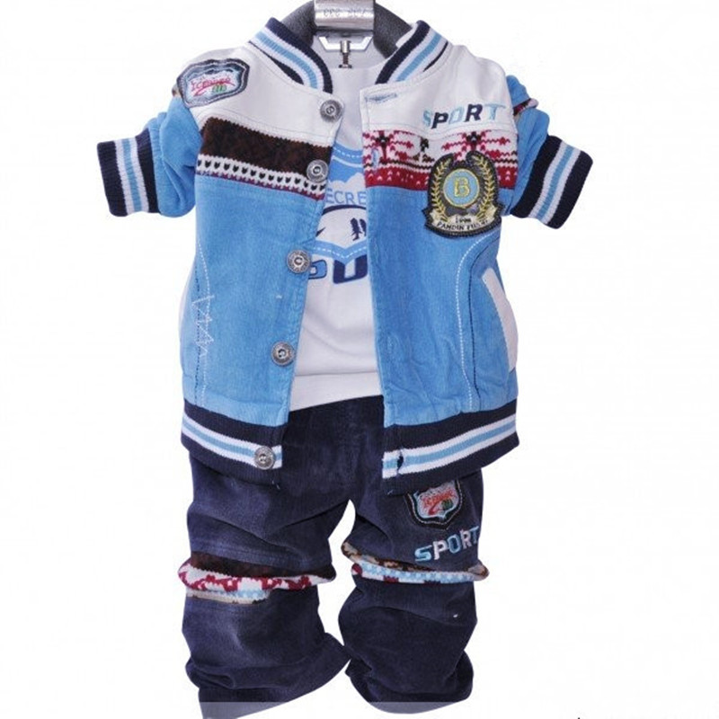 Anlencool Free shipping High quality classic  European and American version infants Valley casual three-piece children clothing