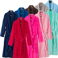 В Продаже Любители Роскошный Шелк Фланель Длинные Кимоно Банный Халат для Женщин и Мужчин Зимней Ночью Халат Невесты Халаты Туалетный платье