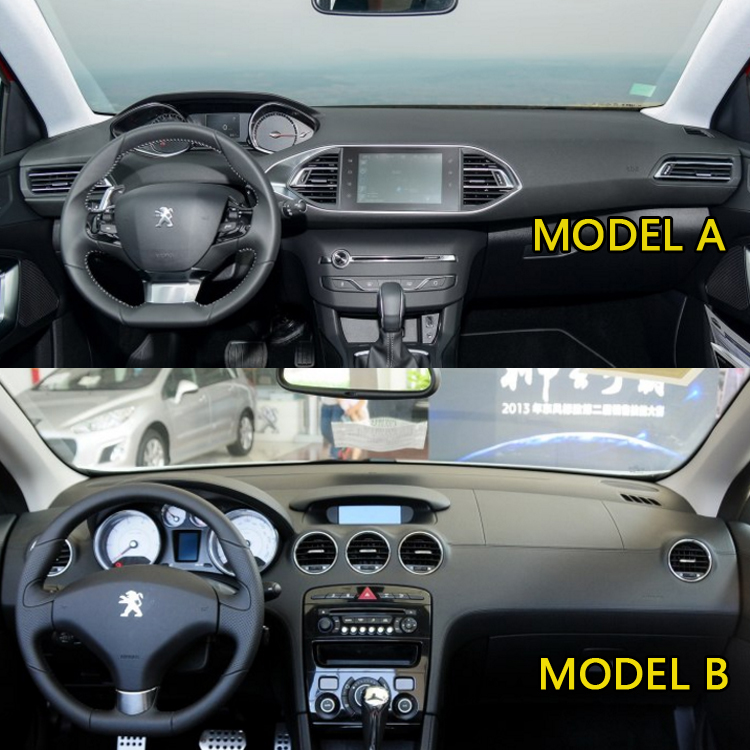 Auto Styling Covers Dashmat Dash Mat Dashboard Cover Peugeot 308 GT 2009 2010 2011 2012 2013 2014 2015 2016 2017 2018
