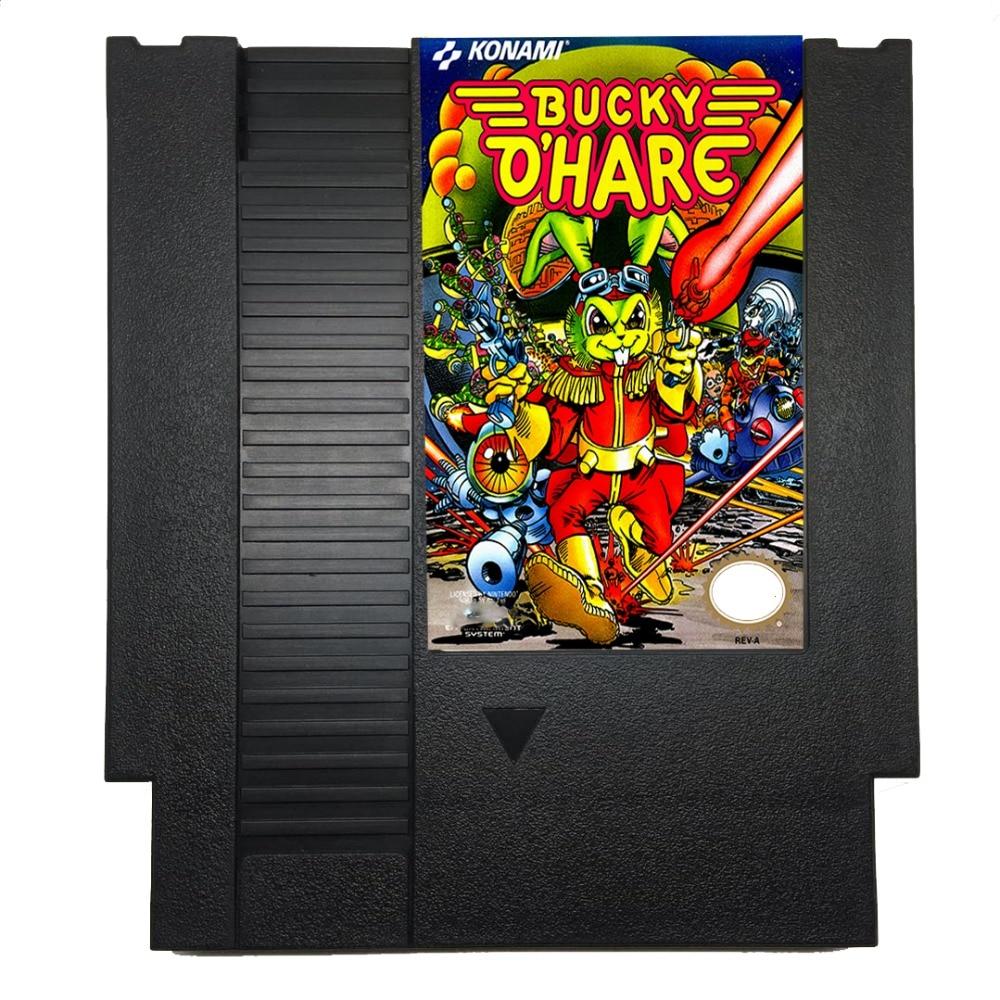 Bucky-o'Hare 72 Pins Game Cartigrage for 8 Bit Game console English Language
