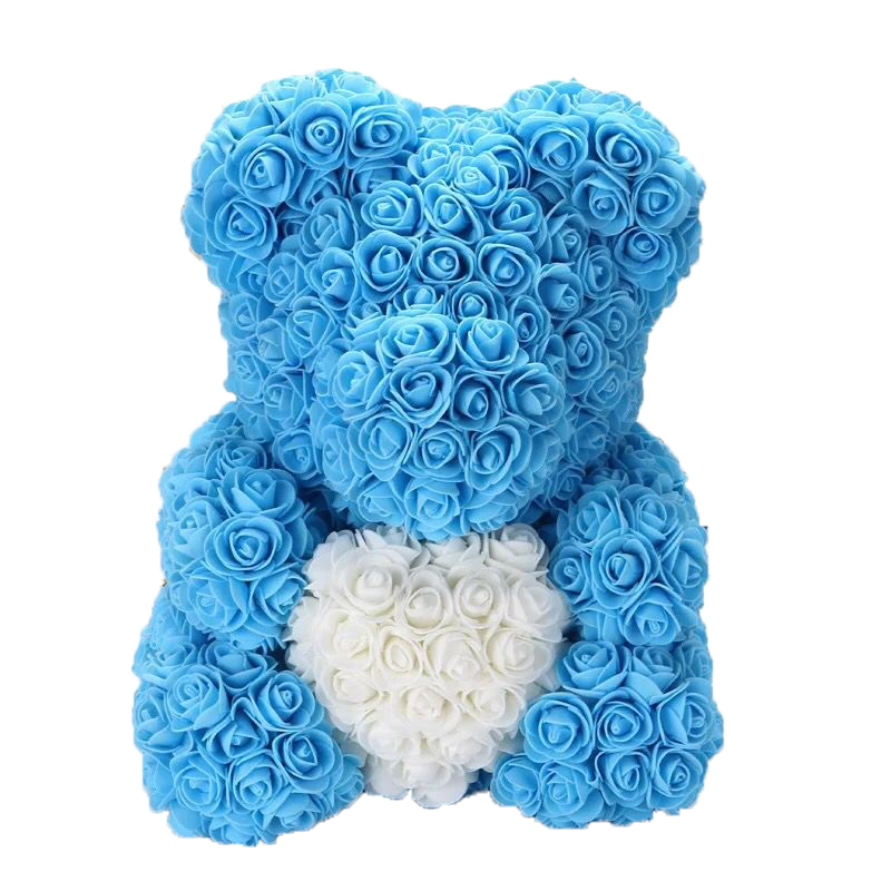 Image 4 - DropShipping 40cm Rose Bear Heart  Artificial Flower Rose Teddy Bear For Women Valentine's Wedding Birthday Christmas Gift-in Artificial & Dried Flowers from Home & Garden
