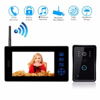 Luxury 2 4G 7 TFT Wireless Video Door Phone Intercom Doorbell Home Security Camera Monitor Color