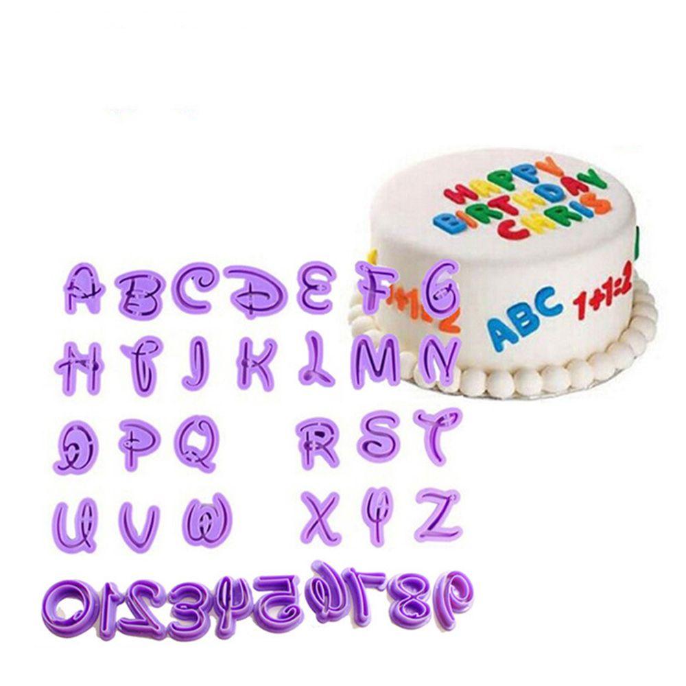 Fine New 26Pcs Set English Letters Cake Mould Alphabet Number Letter Funny Birthday Cards Online Hendilapandamsfinfo