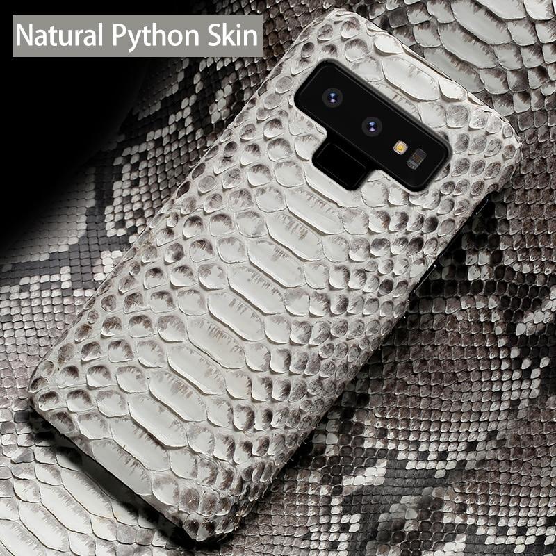 Téléphone étui pour samsung Note 9 8 5 S10 S9 S8 S7 S6 Bord Plus A3 A5 A7 A8 J3 J5 J7 Python Naturel Peau Haut De gamme Personnalisé Couverture Arrière