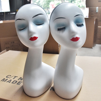 White Training Mannequin Head ABS Female Head Display Styling Mannequin Manikin Head Wig Hat Stand